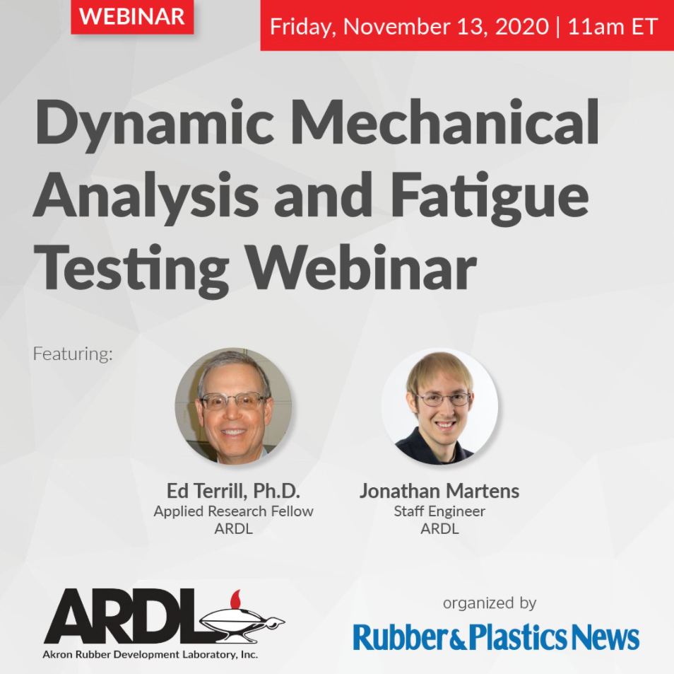 Dynamic Mechanical Analysis and Fatigue Testing Webinar Announcement